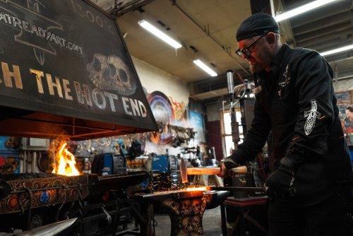 Art of blacksmithing taught, practiced at Kalamazoo studio