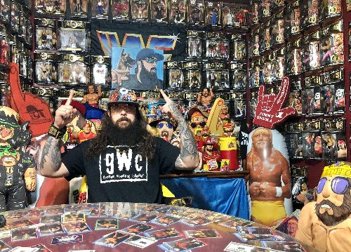 Michigan man owns one of largest hidden, private WWE and wrestling collections anywhere