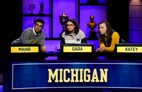 Out of nowhere! Michigan Wolverines trivia team makes wild comeback on 'College Bowl' premiere