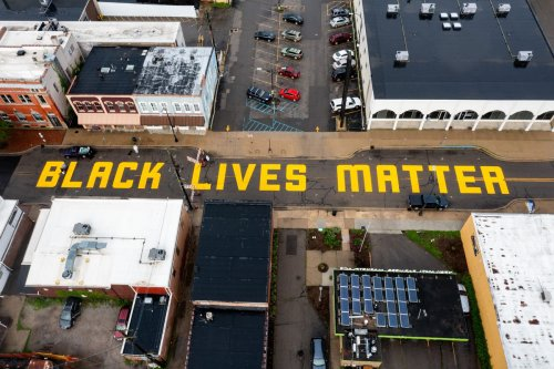 'Ugly display of hatred:' Black Lives Matter mural covered in white paint
