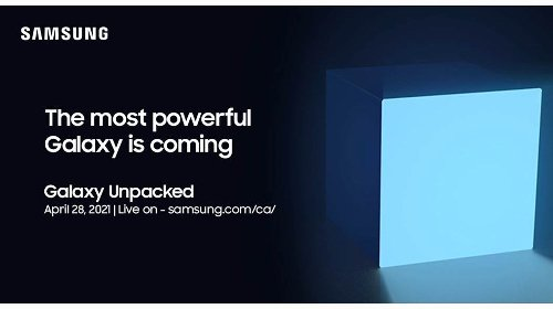 Samsung announces upcoming Unpacked event on April 28