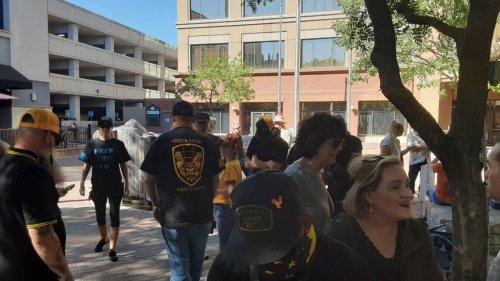 Confrontation as 'Proud Boy' crowd assembles outside Modesto City Council meeting