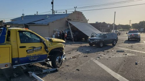 Modesto man arrested in DUI crash that seriously injured tow truck driver, damaged business
