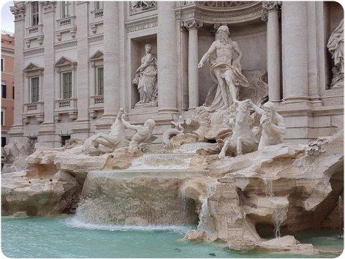 Der Trevi Brunnen, Fontana di Trevi in Rom
