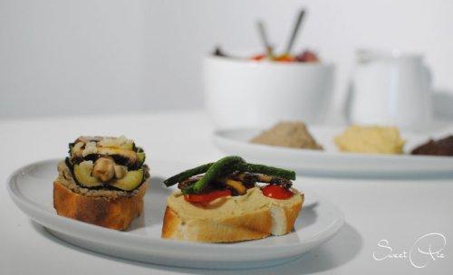 Garten-Crostini mit drei Cremes - Möhreneck