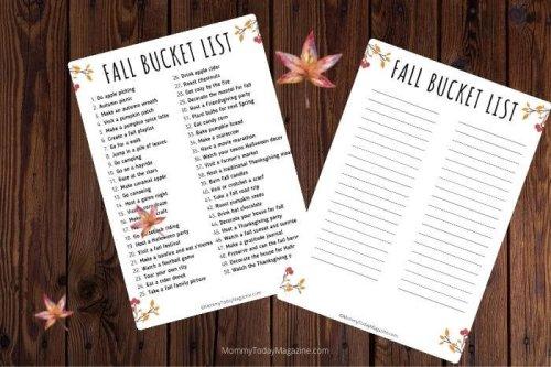 Fall Bucket List: 58 Fun Autumn Activities + Free Printable - Mommy Today Magazine