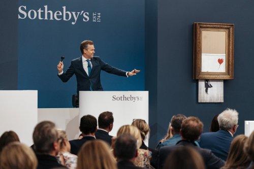 "Auktionsrekord für Banksys ""Love Is In The Bin"" in London"