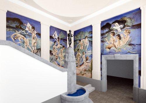 Rekonstruktion zeigt zerstörte Wandgemälde von Kirchner