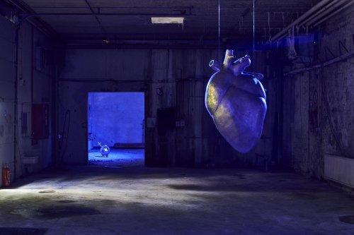 Das hungrige Kunstherz: In Belgien werden Installationen auf ehemaligem Militärgelände gezeigt