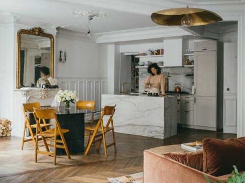 How a Vancouver Designer Turned a Hoarder's Den Into a Stylish Paris Apartment