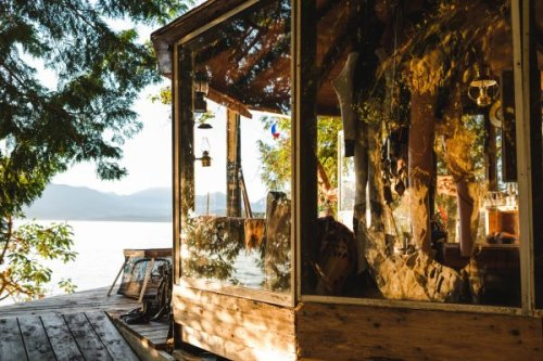 This Family's Dream Home Is an Off-the-Grid Glass Yurt on Bowen Island