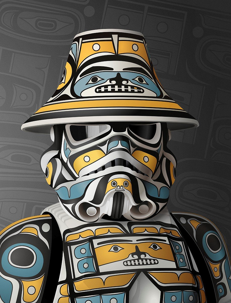 """Andy Everson Melds """"Star Wars"""" with West Coast Indigenous Art"""