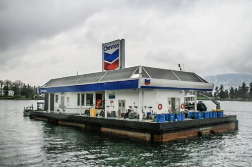 Coal Harbour's Floating Chevron Station Is the Last of Its Kind