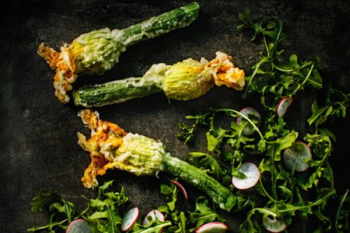 Fried Zucchini Blossoms from one of B.C.'s Top Chef Canada Contestants