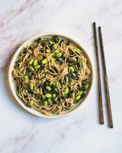 Recipe: Sesame Soba Noodles with Kale and Edamame from Vancouver Vegan Author Anna Pippus