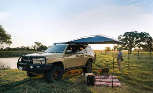 MoonShade • The simple portable awning that fits almost any vehicle