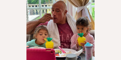 The Rock says having daughters taught him to be 'more tender and gentle'