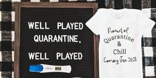 The first quarantine pregnancy announcements are here—and they're hilarious