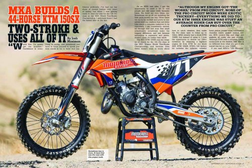 MXA BUILDS A 44-HORSE KTM 150SX TWO-STROKE & USES ALL OF IT AT THE WORLD TWO-STROKE RACE