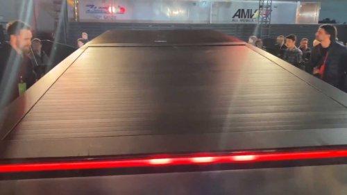 Check Out Tesla Cybertruck's Unique Solar Charging Tonneau Cover