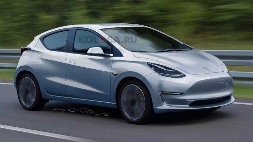 Tesla Model 2 Rendered Imagining Brand's Tiny, Upcoming EV