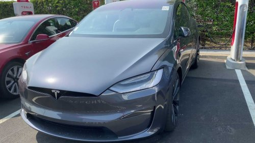 Check out this Tesla Model X Plaid seen at the factory