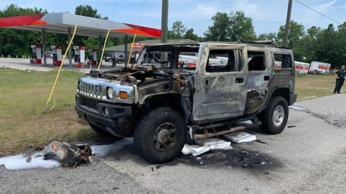Gas-Hoarding Owner Has Hummer H2 Goes Full Inferno In Florida