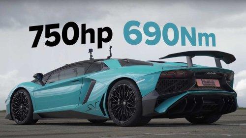 Lamborghini Aventador SV Drag Races Expensive Rallycross Racers