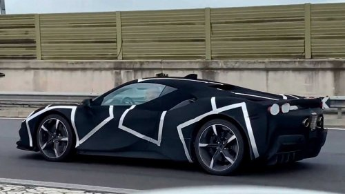 Possible Ferrari V6 Hybrid Prototype Spotted Near Factory