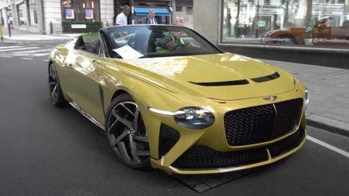 Bentley Bacalar looks absolutely sensational on London streets