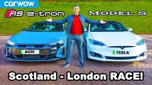 Tesla Model S Vs Audi RS e-tron GT: Epic 600-Mile Road Trip Race