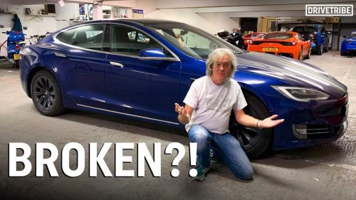 James May's Tesla Model S dies, he gets locked out