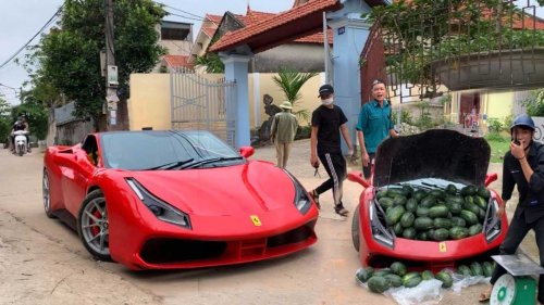 Ferrari 488 GTB Replica Used To Sell Watermelons Sparks Joy