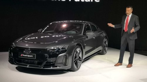 Audi RS E-Tron GT Makes Public Debut At The Most Unexpected Of Places