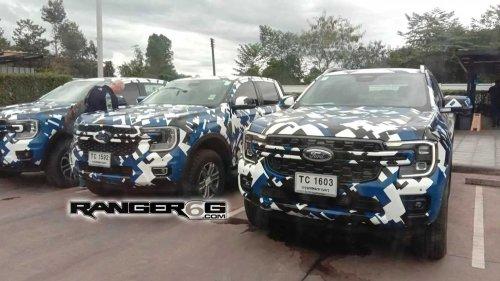 Ford Ranger (2022): Familienfoto mit XLT, FX4 und Wildtrak
