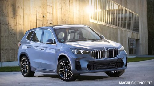 BMW X1 (2022): Neuer Erlkönig und Rendering zeigen mehr Details
