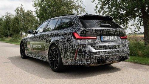 BMW M3 Touring (2022) zeigt sich getarnt in offiziellem Teaser