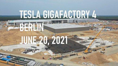 Primed Tesla Model Y Bodies Shown At Giga Berlin Paint Shop
