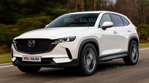 Mazda CX-50 (2022): Rendering auf Basis von Patentbildern