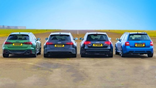 Four Generations Of Audi RS6 Host A Family Reunion In A Drag Race
