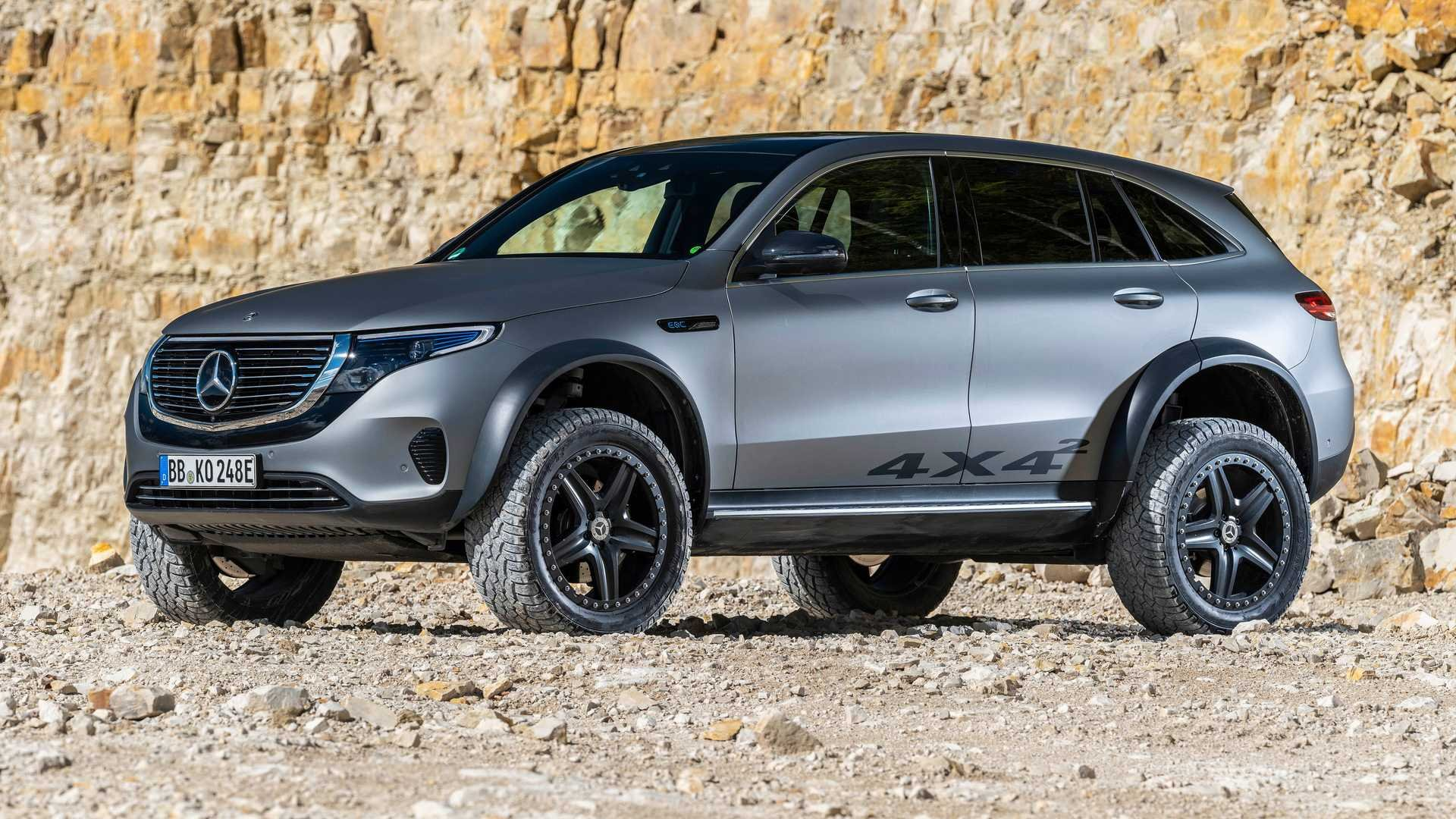 Mercedes EQC 4x4² Stands Tall With Portal Axles And Chunky Tires