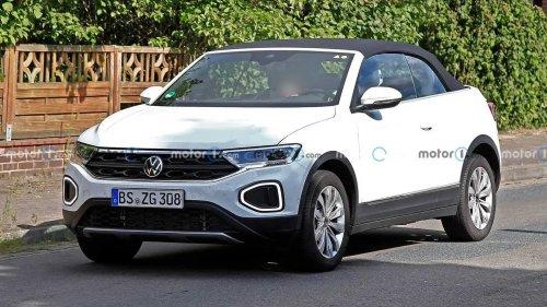 VW T-Roc Cabriolet Facelift (2022) fast ungetarnt erwischt