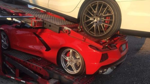 C8 Corvette Owner's Hopes And Dreams Literally Crushed By A Maserati