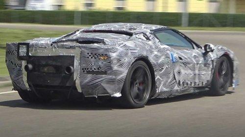Ferrari V6 hybrid spied cruising the streets of Maranello