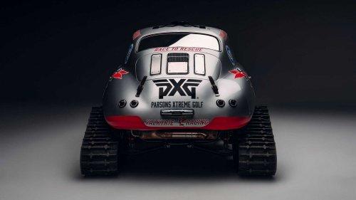 Une Porsche 356 se transforme en motoneige pour une œuvre caritative