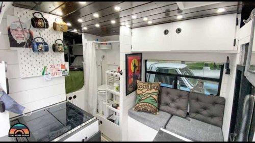 Self-Built Camper Van With Unique Layout Is Digital Nomad's Dream