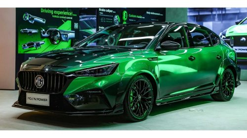 MG 6 XPower breaks cover with quad exhaust, mysterious engine