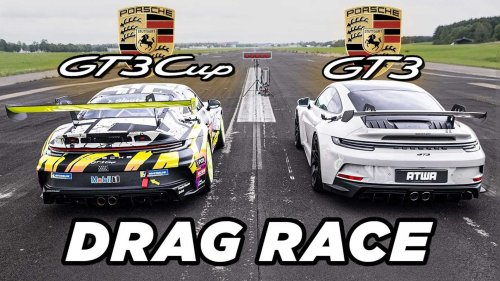 Porsche 911 GT3 Drag Race Proves Stickers Make Your Car Faster