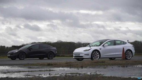 New Tesla Model 3 Performance drag races its gen-1 counterpart