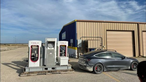 See The Secret Tesla Supercharger At Goodyear Proving Grounds